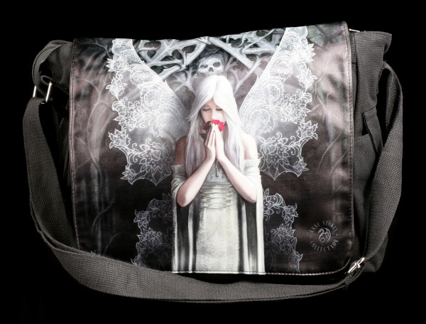 Messenger Bag with Gothic Angel - Only Love Remains
