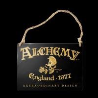 Alchemy Metal Sign small - Alchemy England 1977