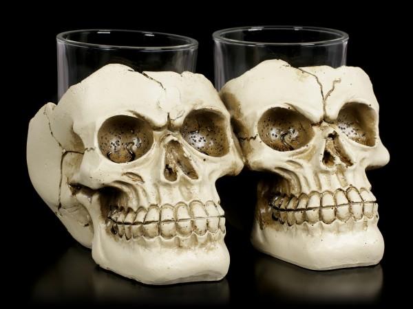 Shot Glasses with Skull - After Shot