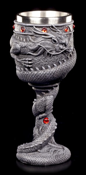 Dragon Goblet with red Stones