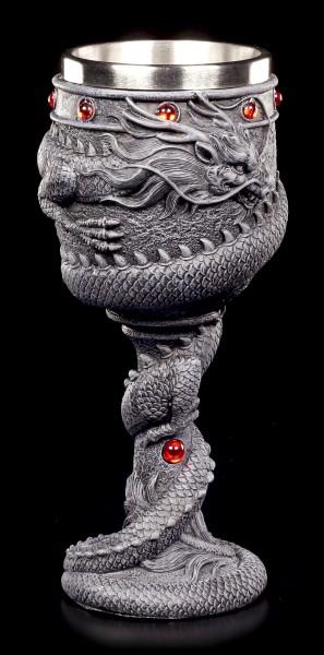 Drachen Kelch mit roten Steinen