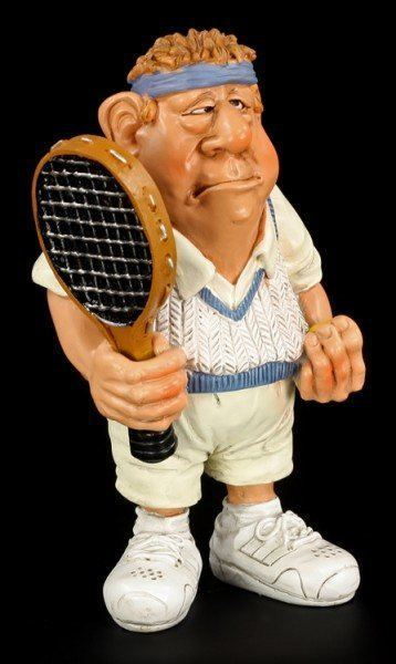 Tennis Player - Funny Sports Figurine