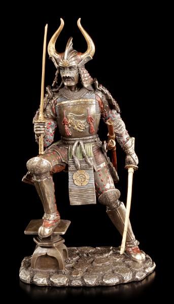 Samurai Figur - Krieger mit zwei Schwertern