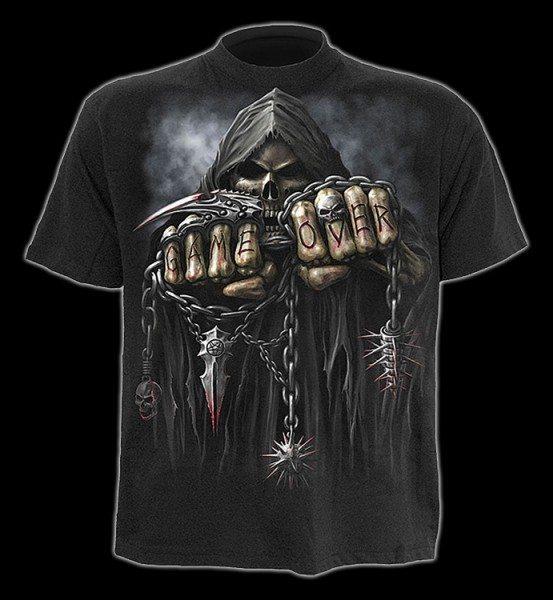 T-Shirt - Skelett Reaper - Game Over
