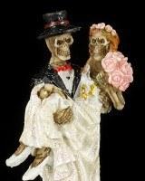 Skeleton Figurines - Bridal Couples Set of 3
