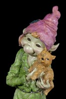 Large Pixie Figurine - Alvara with Kitty