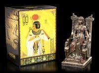 Kleopatra Figur - Sitzend auf Thron