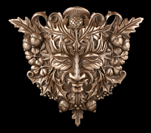Celtic Forest Spirit Wall Plaque - Greenman bronzed