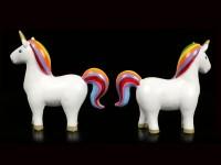 Regenbogen Einhorn Figuren - 2er Set