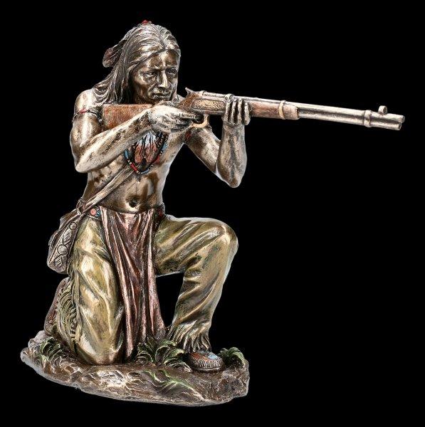 Indian Figurine - Lurking Warrior with Gun