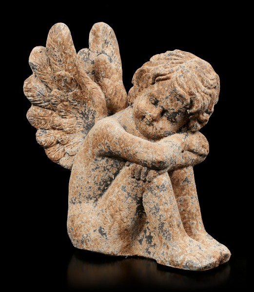 Angel Garden Figurine - Rust look right