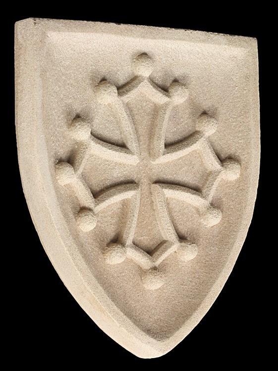 Ritter Wappen Okzitanien - Wandrelief