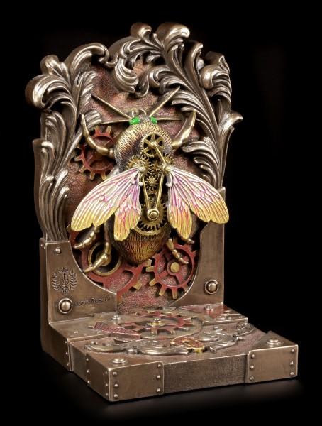 Steampunk Buchstütze einzeln - Die Fliege