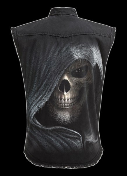 Ärmelloses Worker Shirt - Totenkopf - Darkness