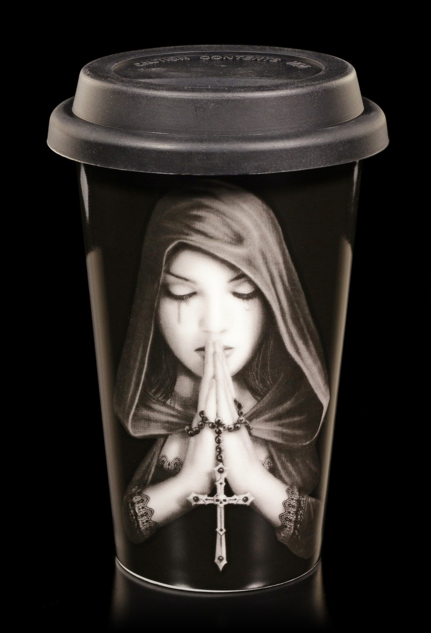 Keramik Becher To Go - Gothic Prayer