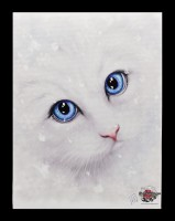 Small Canvas with Cat - Winter Cat