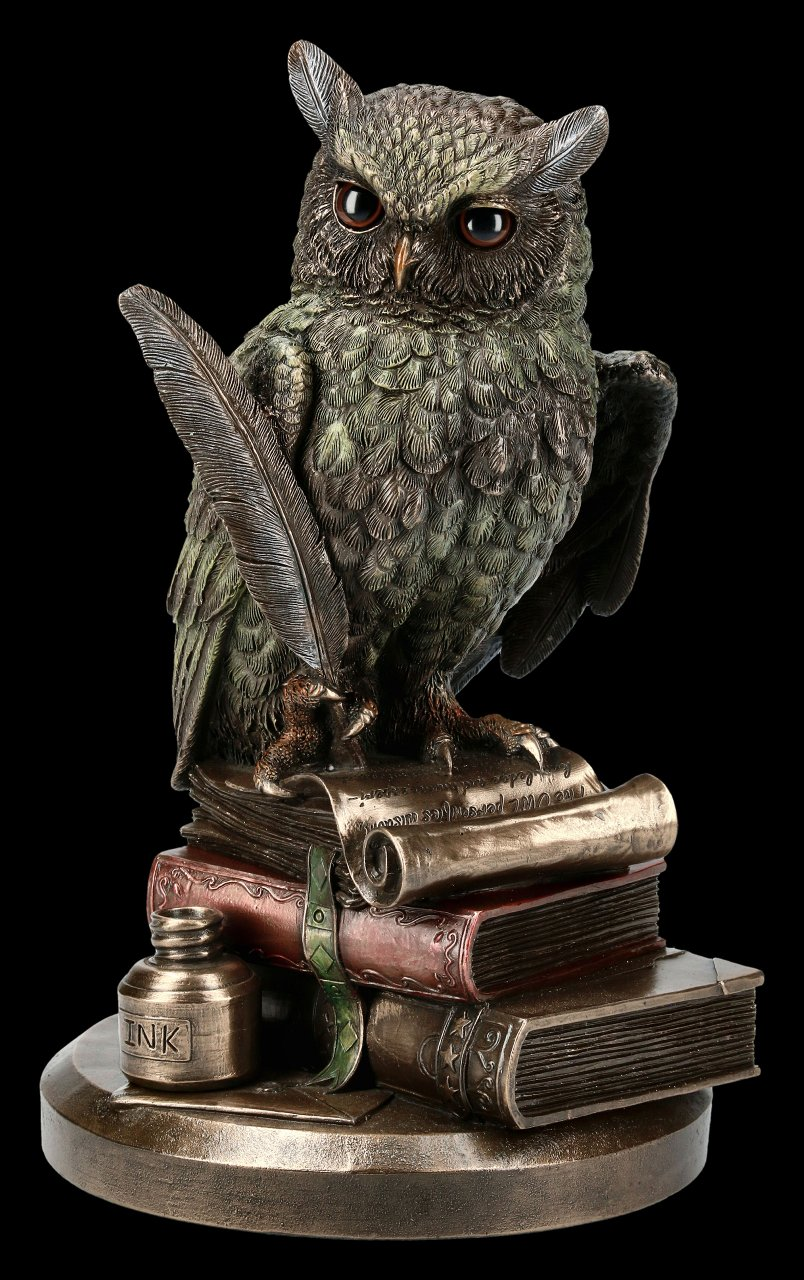 Owl Figurine - Sitting on Books