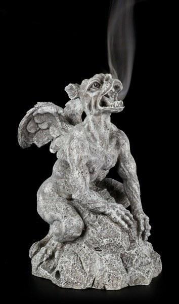 Räucherkegelhalter - Gargoyle auf Felsen