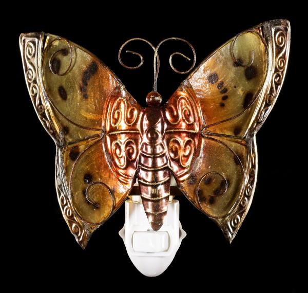 Nachtlicht - Schmetterling aus Metall