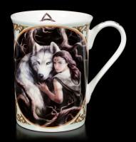 Porcelain Mug with Wolf - Soul Bond