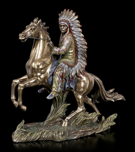 Indian Figurine - Buffalo Hunter Sitting Bull