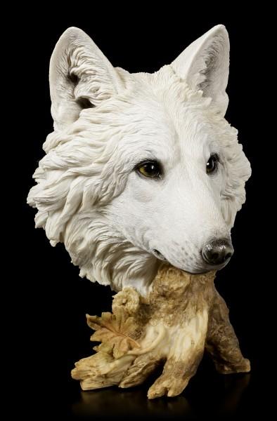 Große Wolfskopf Büste - Winterzeit