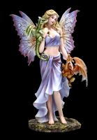 Fairy Figurine - Cora with Baby Dragons