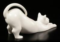 Porcelain Cat - Stretching