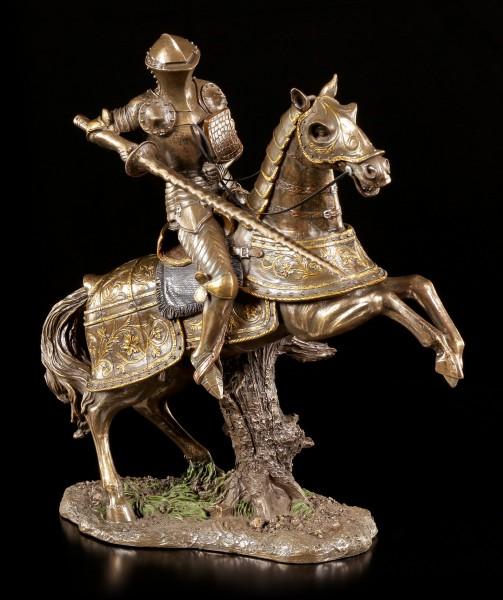 Ritter Figur mit Lanze auf Pferd