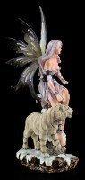 Elfen Figur - Enela mit weißem Tiger