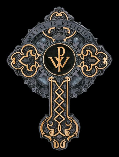 Wanddeko - Powerwolf Kreuz - Metal is Religion