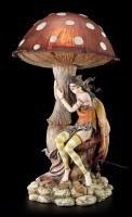 Fairy Night Light with Mushroom - Brown