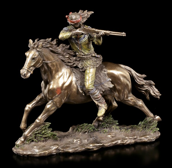Indian Figurine - Shooting Apache on Horse