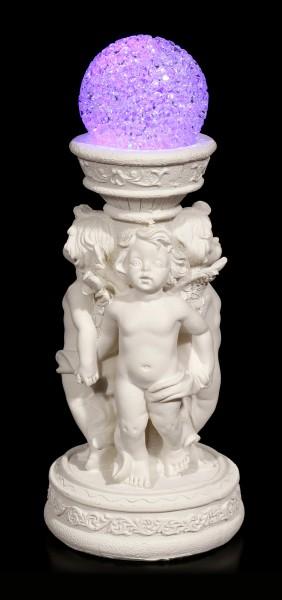 Engel Figuren - 3 Cherubim mit LED Kugel