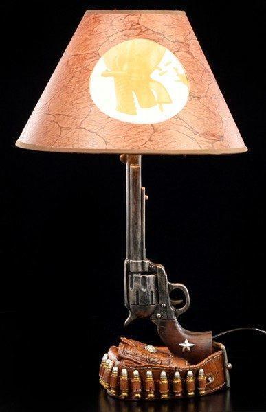 Wilder Westen Lampe - Revolver mit Gürtel