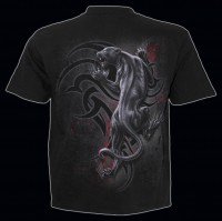 Spiral Gothic T-Shirt - Tribal Panther
