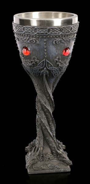 Dragon Goblet with red Gemstones