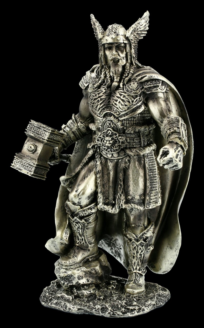 Thor Figur - Donnergott mit Hammer