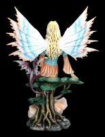 Elfen Figur - Weltenkönigin mit Drache