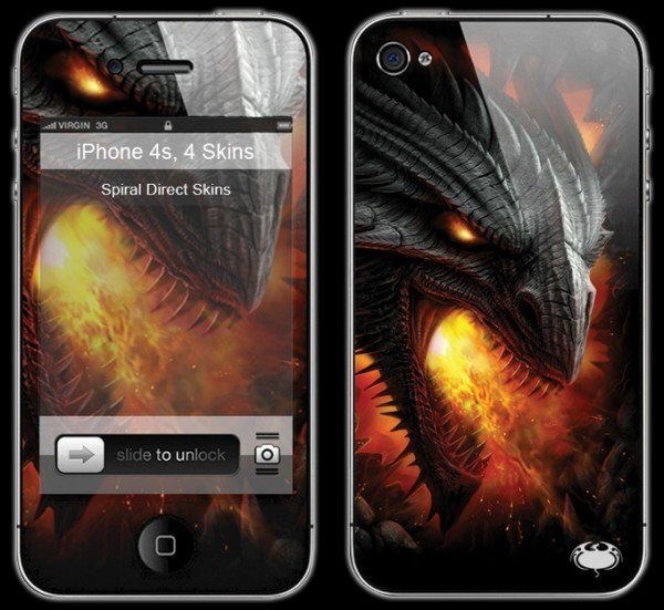 Drachen Smartphone Skin - Rock Guardian