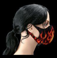 Gesichtsmaske Feuer - Tribal Flames