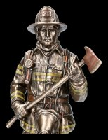 Firefighter Figurine with Axe and Oxygen Bottle