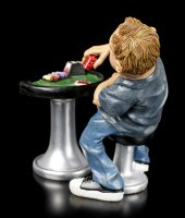 Funny Sports Figur - Pokerspieler setzt Chips