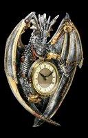 Wall Clock Steampunk Dragon - Dracus Horologium