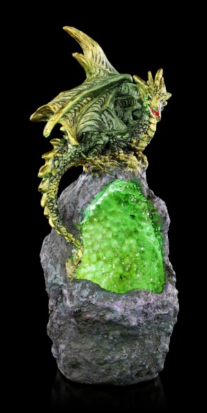 Dragon Figurine with LED - Emerald Crystal Guard
