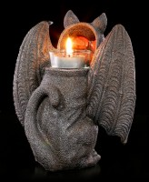 Tealight Holder - Fantasy Cat with Wings