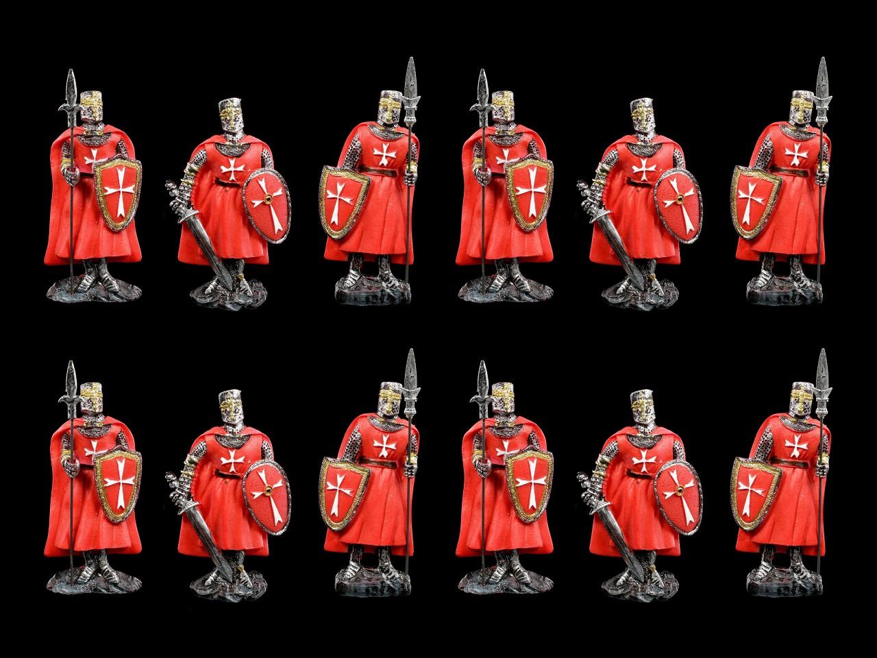 Kühlschrank Magnete - Rote Ritter 12er Set