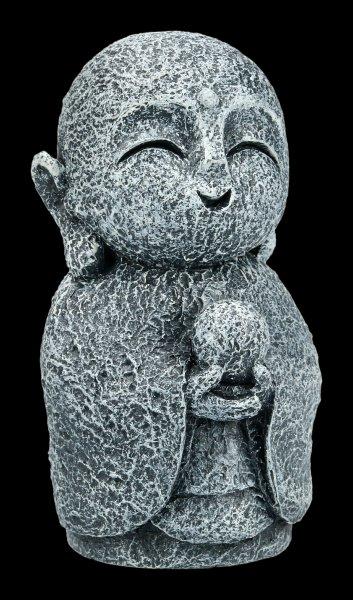 Lächelnde Jizo Mönch Figur - Kshitigarbha