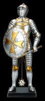 Knight Figurine - Maltese with Spike Mace