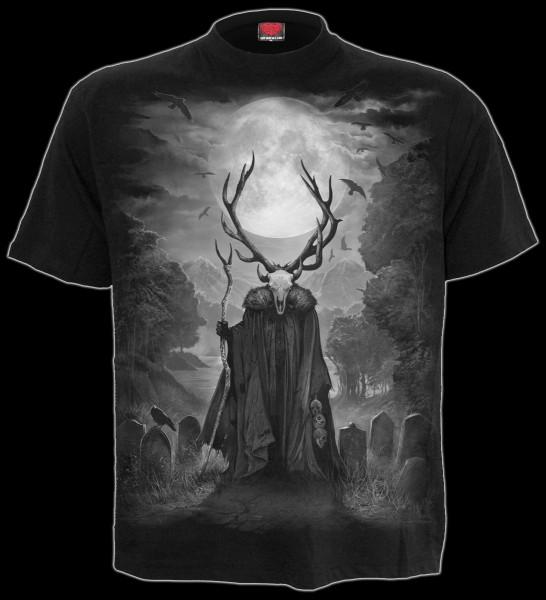 Horned Spirit - Spiral Gothic T-Shirt